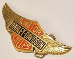 Harley Davidson Large Solid Brass Belt Buckle. Code HD-68